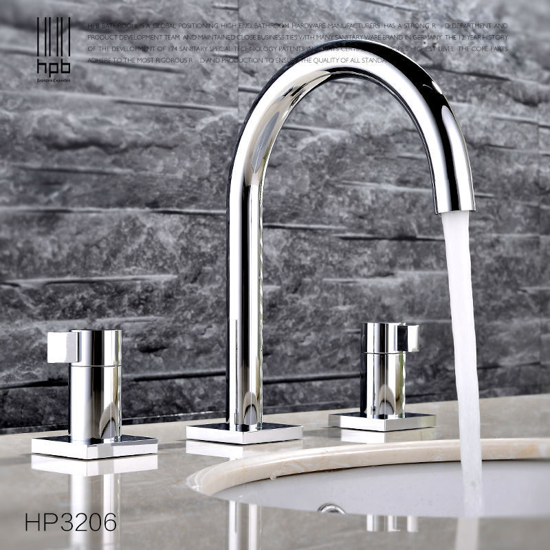 HPB Contemporary Brass Bathroom Basin Faucet Hot and Cold Water Dual Round Holder Mixer Tap torneira HP3206 pastoralism and agriculture pennar basin india