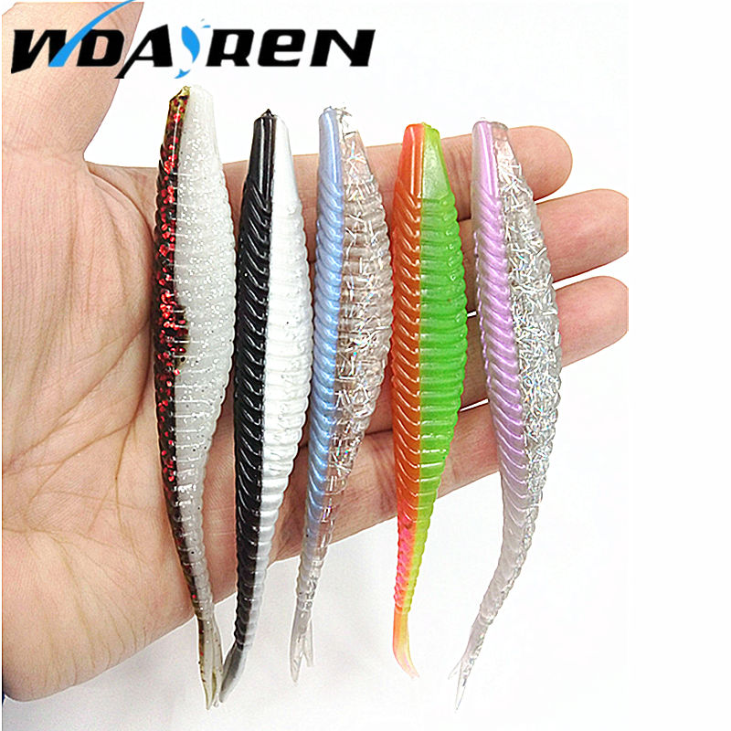 5Pcs Soft Bait 120mm 7g Fishing Lure Silicone Baits Isca Artificial Para Pesca Grub Bass Leurre Peche Fishing Wobblers FA-337 1set 10pcs soft silicone fishing lure bait freshwater saltwater