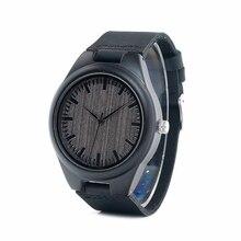 Бобо Птица дешевые часы для мужчин кварцевые деревянные наручные masculinos relogios в подарочной коробке логотип на заказ