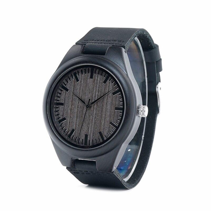ecd538bd260 BOBO PÁSSARO Barato Homens Relógio de Quartzo relógios de Pulso relogios  masculinos De Madeira na Caixa de Presente logotipo personalizado
