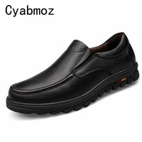 Men S Genuine Leather Shoes Business Dress Moccasins Flats Slip On New Men S Casual Shoes