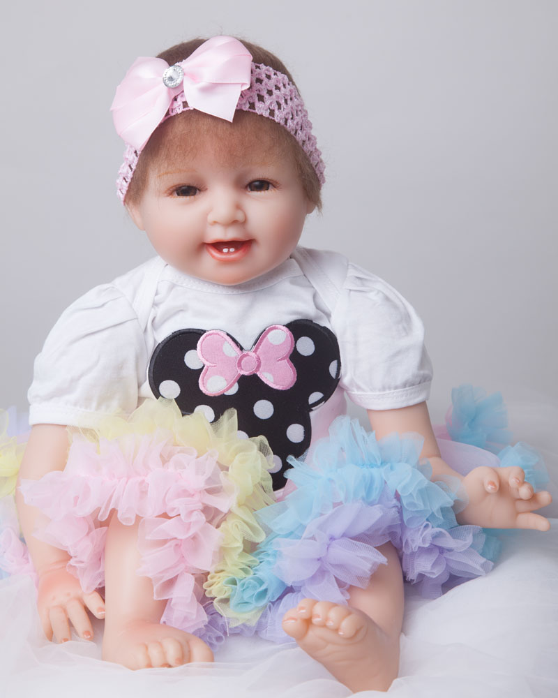Soft Body Silicone Reborn Baby Doll Toy 55cm Real Touch Vinyl Baby-Reborn Newborn Princess Doll Girl Brinquedos Birthday ChristmSoft Body Silicone Reborn Baby Doll Toy 55cm Real Touch Vinyl Baby-Reborn Newborn Princess Doll Girl Brinquedos Birthday Christm