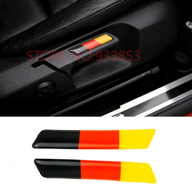 German flag for vw golf 6 gti jetta octavia decorative seat lift wrench decorative sticker
