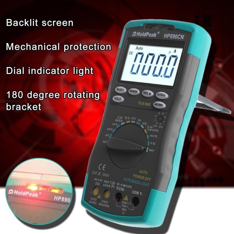 HP-890CN Digital Multimeter 6000 Count Auto-Ranging Smart Voltage Current Tester L15 цена
