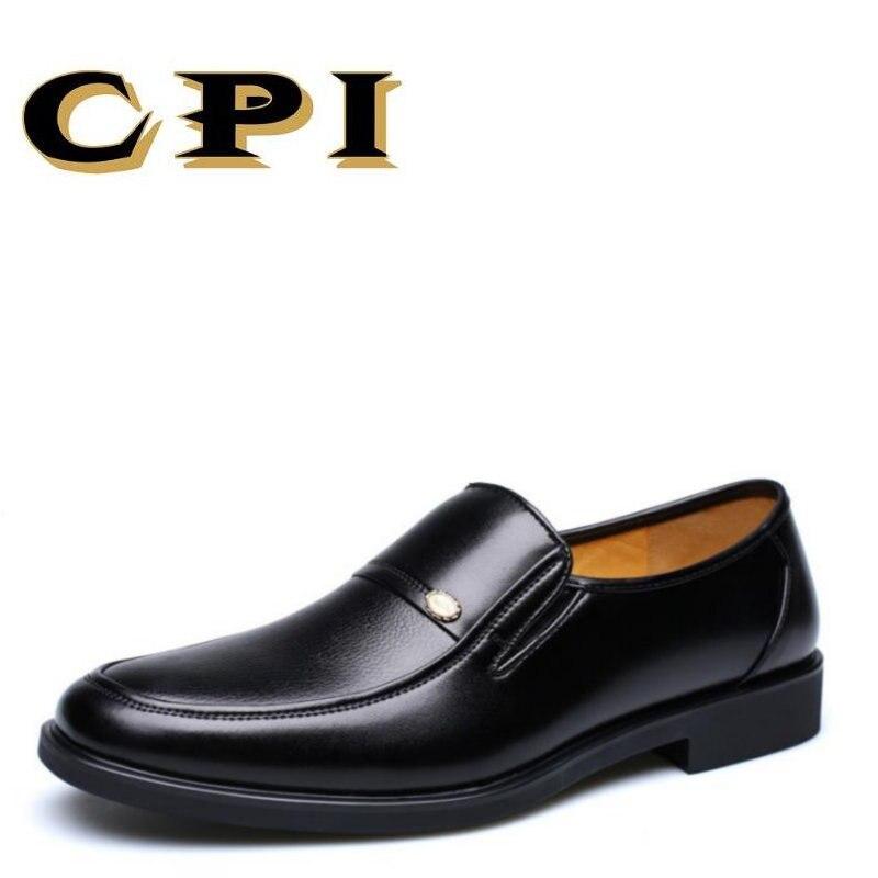 CPI 2017 Nauji vyrų paprasti verslo batai Viduramžių tėvo batai - Vyriški batai