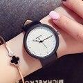 Gimto moda mujer relojes reloj creativo reloj de cuarzo ocasional femenino de cuero chica estudiante reloj de pulsera relogios montre relojes