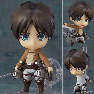Attack on Titan Nendoroid 375# Eren Jaeger Toy Attack on Titan Eren PVC Figure 10CM Attack on Titan Anime Collectible Model Toy