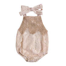 Newborn Infant Baby Girl Lace Romper Backless Jumpsuit Cute Summer Baby Onesie Outfit Sunsuit Clothes
