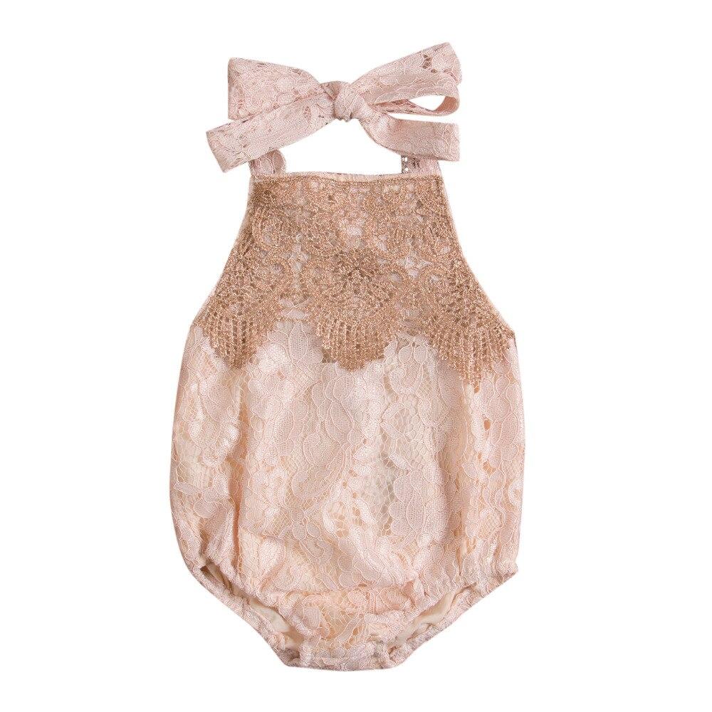 Newborn Infant Baby Lace...
