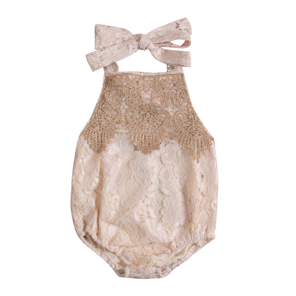 Newborn Infant Baby Girl Lace Romper Backless Jumpsuit Cute Summer BabyOutfit Sunsuit Clothes cute newborn baby girl clothes little princess striped bow romper sunsuit infant bebes jumpsuit children clothes