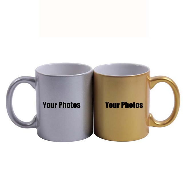 ANGRLY Free Design Gold Silver Creative Ceramic Cup Large-capacity Glass Mugs Contracted Couple Spoon Coffee Cup Milk Cup Custom