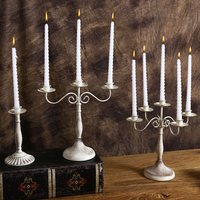 Wrought Iron Candle Holders One Three Five Head Romantic Western Restaurant Candlelight Dinner Table Wedding Decor