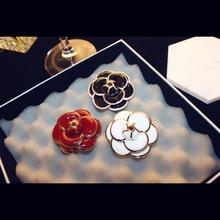 Бренд agood высокое качество Роза Камелия Броши с золотыми металлическими цветами, эмаль, брошь с застежкой, Женская ткань для шарфа аксессуары