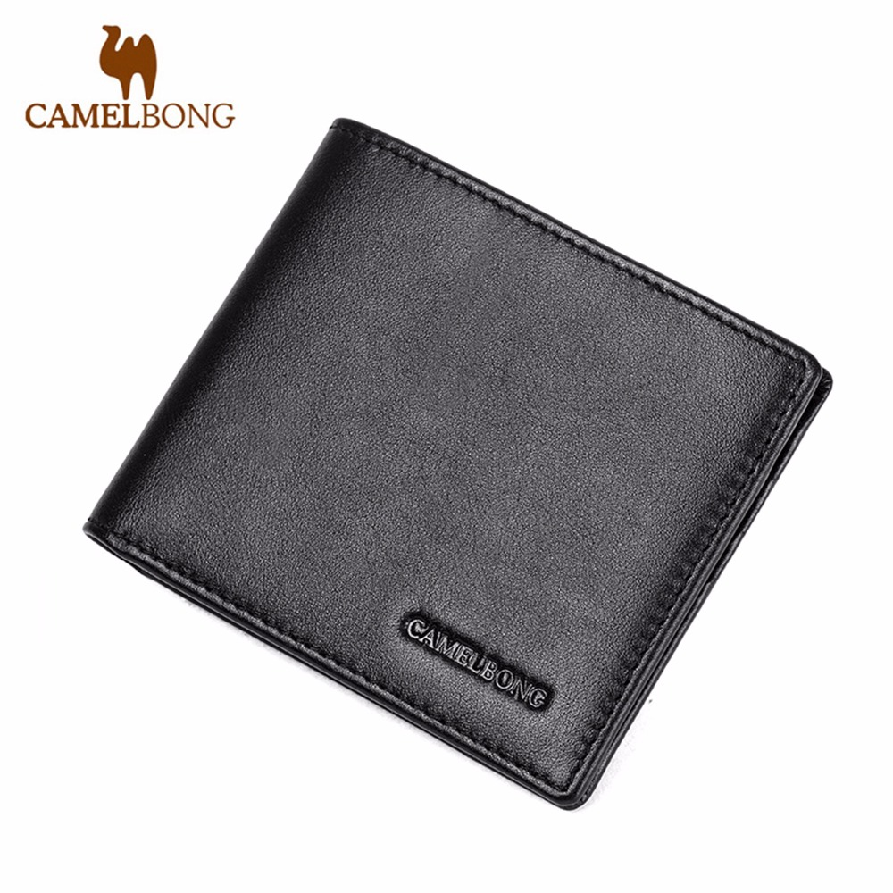 54d8f3d97afc 2017 Special Offer Rushed Men Wallet Genuine Leather Credit Card Id Holder  Money Clip Two Layer Portfolio CamelBong Brand