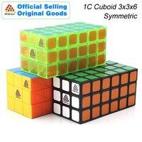 WitEden 3x3x6 Cuboid Magic Cube Symmetric 336 1C Cubo Transparent Professional Speed Neo Cube Puzzle Antistress Fidget Toys