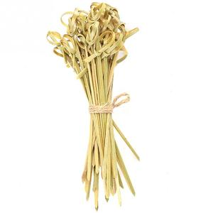 Image 3 - 100Pcs Bamboo Stick Knot Skewers Cocktail Sticks Canape Buffet Party Tableware Food Cocktail Sandwich Fork Stick Skewer