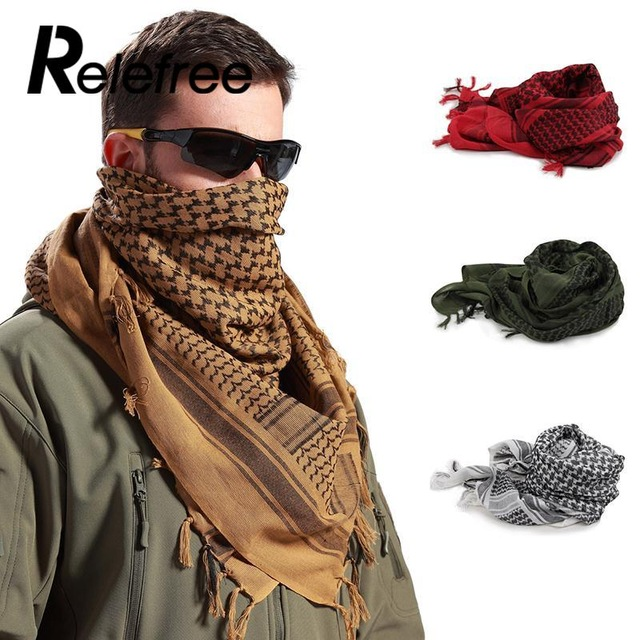 Militar Ejército Arena y Negro Shemagh Bufanda Árabe Retro SAS