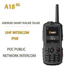 Новый A18 3G радио UHF Интерком IP68 WCDMA/GSM Android4.2.2 с реальным ptt или Zello A17 Upgrade POC общественный netowrk Интерком