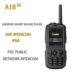 New A18 3G Radio UHF Intercom IP68 WCDMA / GSM Android4.2.2 with Real-ptt or Zello A17 Upgrade POC Public netowrk Intercom