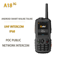 New A18 3G Radio UHF Intercom IP68 WCDMA / GSM Android4.2.2 with Real ptt or Zello A17 Upgrade POC Public netowrk Intercom