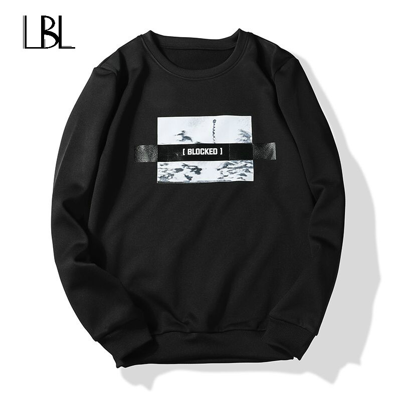 2018 New Men Hoodie Sweatshirt Moleton Velvet Autumn Winter Men Sweatshirt Mens Hoodies Sweatshirts Cotton O Neck Brand Hip Hop