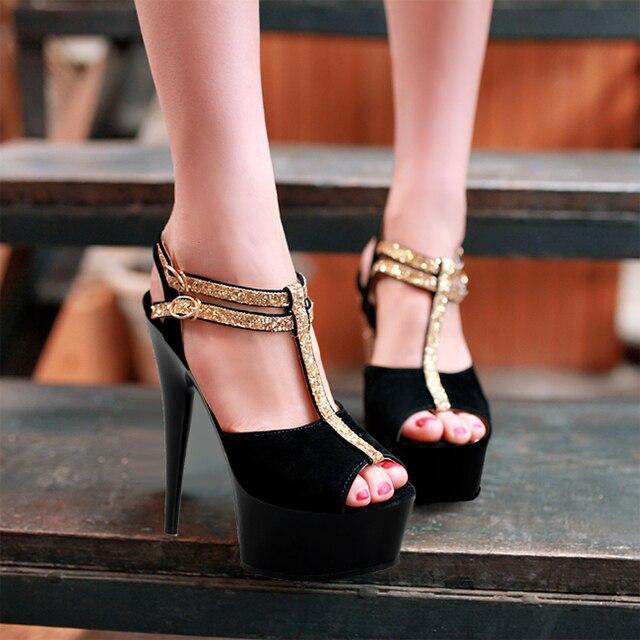 Laijianjinxia 15 Cm Punk Gladiator High Heels Plus Big Size Pole Dancing Shoes 6 Inch Fashion Sandals Queen Lace Upy Shoes