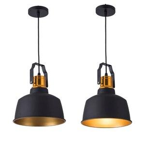 Image 4 - תעשייתי stye12W אלומיניום בציר רטרו תליית תקרת אור שחור led תליון מנורת אוכל מסעדה בר תאורה