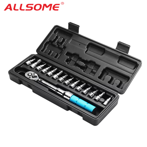 "1/4"" 2-14Nm Adjustable Torque Wrench Bicycle Repair Tools Kit Set Tool Bike Repair Spanner Hand Tool Set(China)"