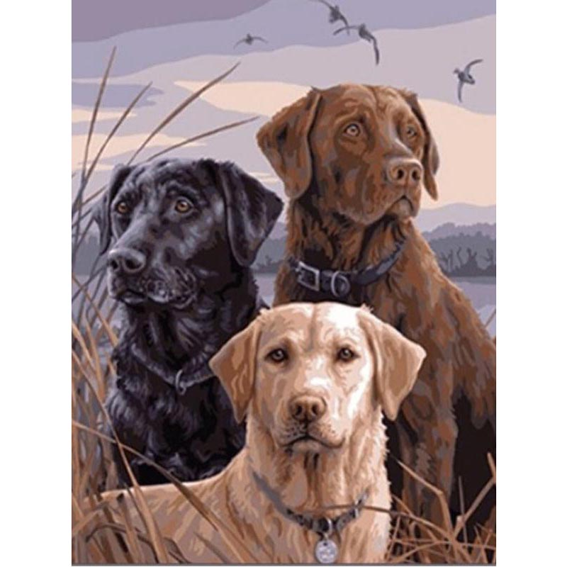 5d Diamond Painting Dog Brother Three Brothers Diamond Diy Embroidery Craft Painting Mosaic Gift Animal Diamond Wall Arts Decor(China)
