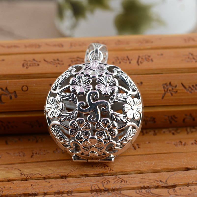 Deer king S925 silver jewelry wholesale new gawu box hollow blossoming open