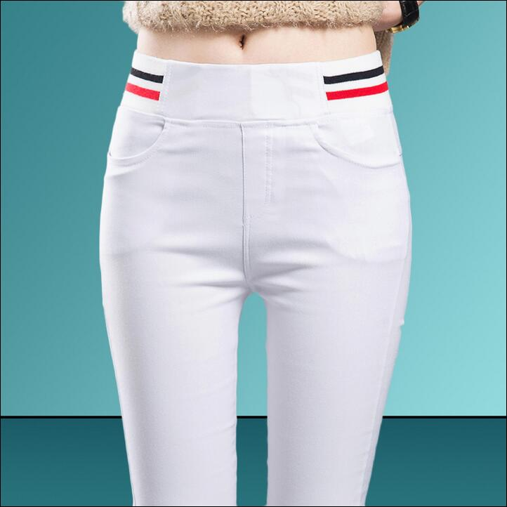 2018 new spring autumn Fashion casual tight Elastic plus size high waist female women girls pencil pants trousers clothes 79052
