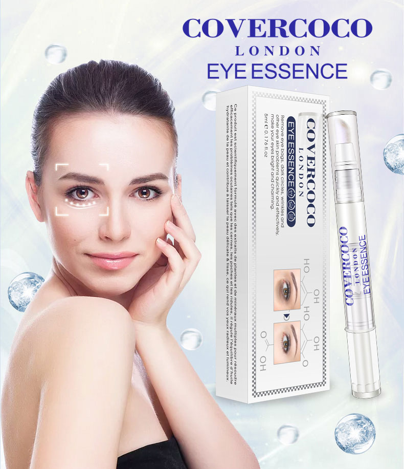 10ml Hyaluronic Acid Eye Serum Removal Eye Bag Dark Circle Anti-Aging Wrinkle Moisturize Eye Essence Skin Care TSLM2