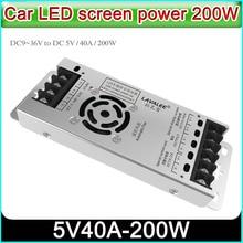 شاشة LED للسيارة ASD 12D5N40A200DT الطاقة ، DC9 ~ 36 فولت إلى 5V40A 100w ، شاشة LED إمدادات الطاقة رقيقة جدا ، P3 P6 P10 LED العرض