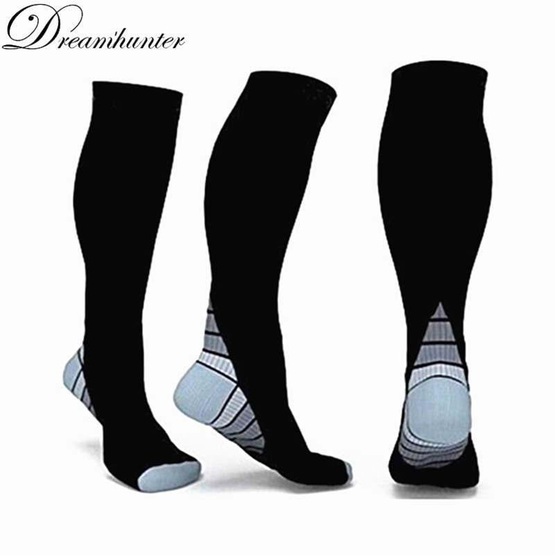 Men Women Compression Socks Running Cycling Jogger Stocking Sports Sock High Breathable Quick-dry Hose Fitness Dance Long Socks