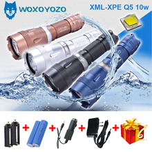 WOXOYOZO waterproof Underwater Diving diver XM-L2 T6 LED Flashlight yellow white light 18650 rechargeable battery Torch 8766