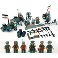 WW2 Второй Мировой Войны Военные ваффен сс Мотоцикла Пушки Оружия Войны Армия 3.5 х 5 см Блоков детские игрушки