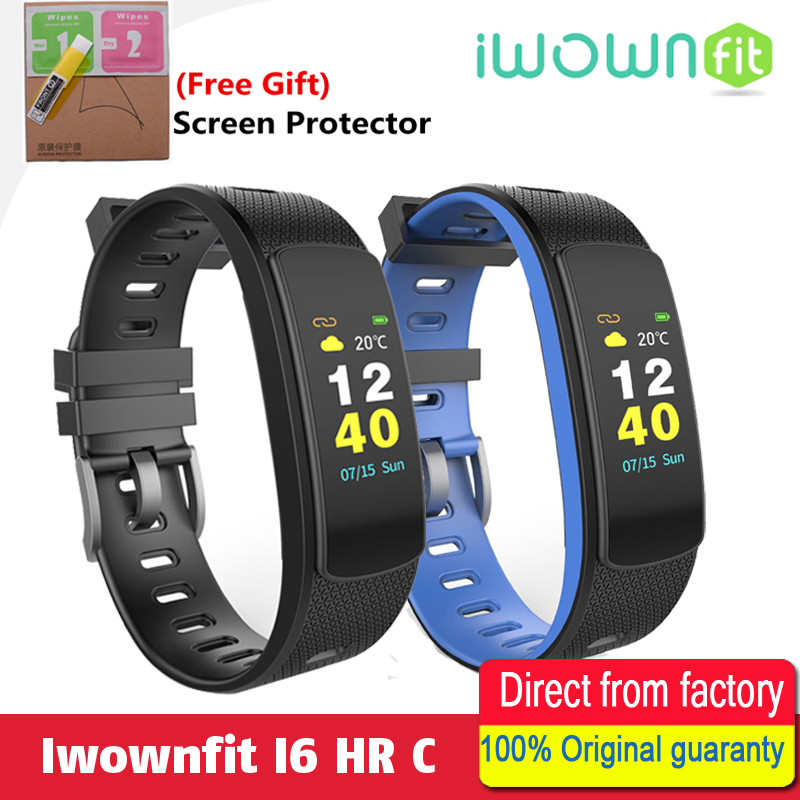 100% Original IWOWNFit I6 HR C with Color Screen Heart Rate Monitor Smart Wristband with Fitness Tracker Sport Smart Bracelet
