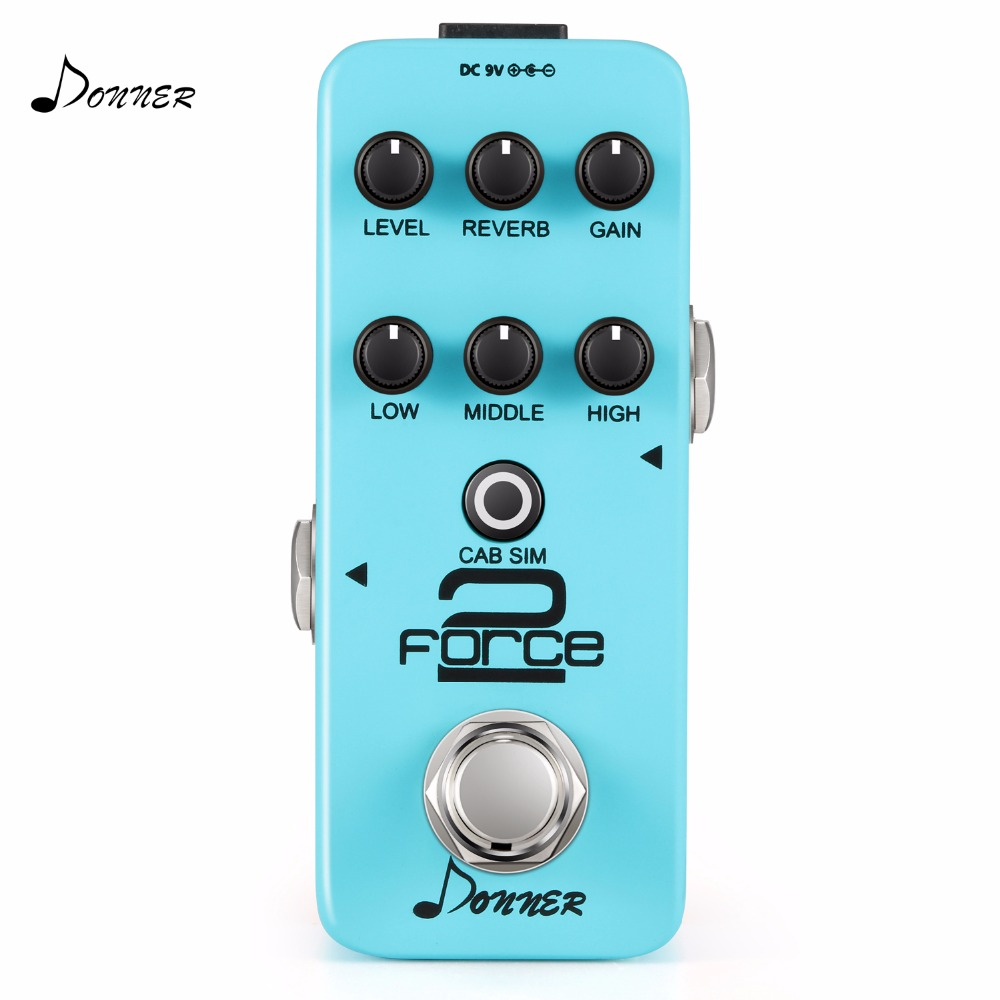 Donner Effect Pedal Force 2 Mini Electric Guitar Preamp donner guitar effect pedal incredible v mini preamp
