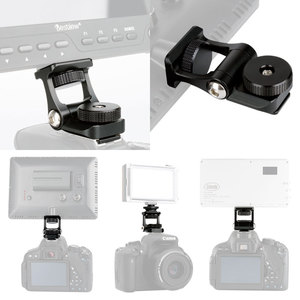Image 5 - 범용 비디오 카메라 모니터 마운트 Feelworld F6S Bestview S7 S5 조절 180 회전 마운트 브라켓 차가운 신발 마운트