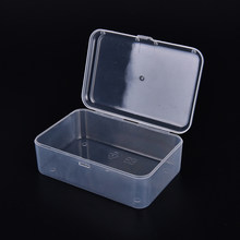 hot selling! Transparent Plastic Storage Box Clear Square Multipurpose Display Case Plastic Jewelry Storage Boxes(China)