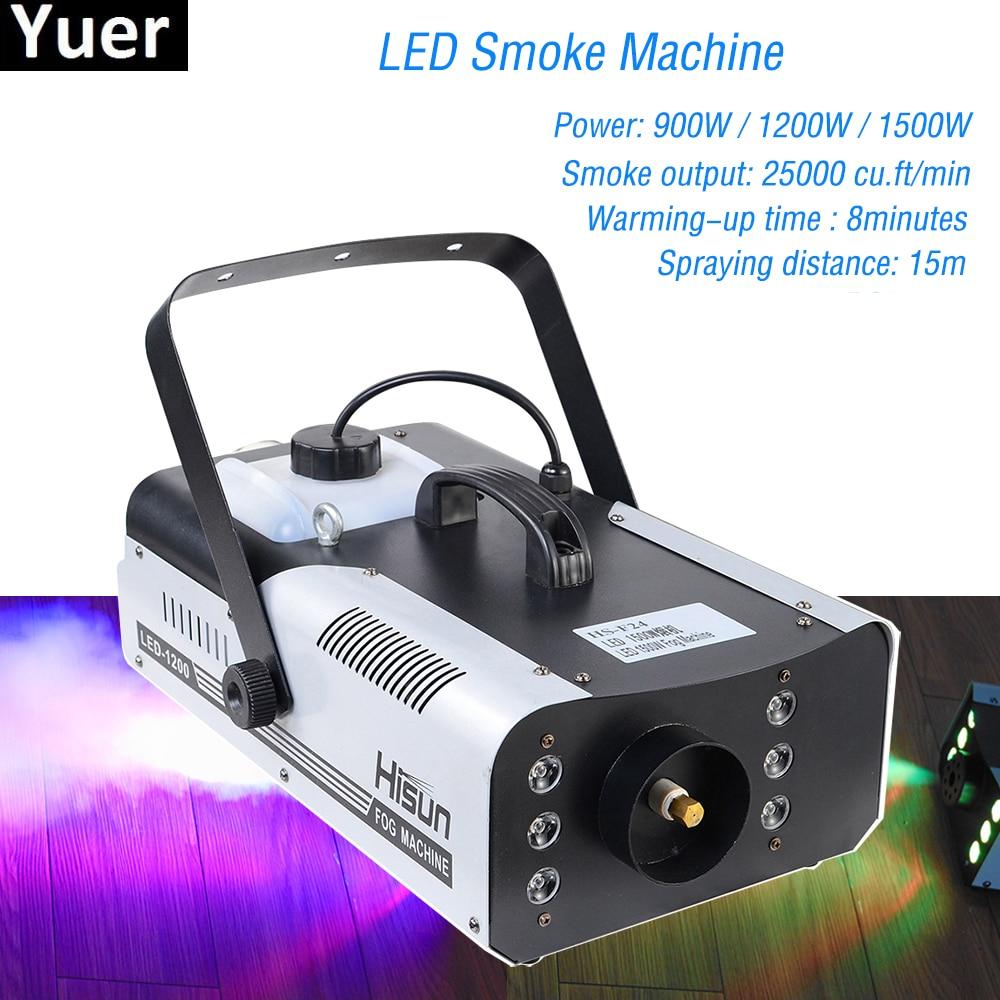 High Quality 1500W RGB LED Fog Stage Effect Smoke Machine Remote Control Smoke Machine Disco Stage Lighting Fog DJEquipment-in Stage Lighting Effect from Lights & Lighting