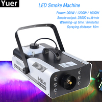 High Quality 1500W RGB LED Fog Stage Effect Smoke Machine Remote Control Smoke Machine Disco Stage Lighting Fog DJEquipment