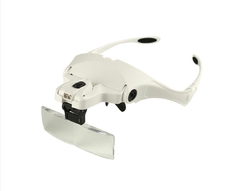 Pałąk Lupa 1.0X1.5X2.0X2.5X3.5X5 Obiektyw Regulowany Lupa Lupa Z LED powiększające Lupa Okulary.
