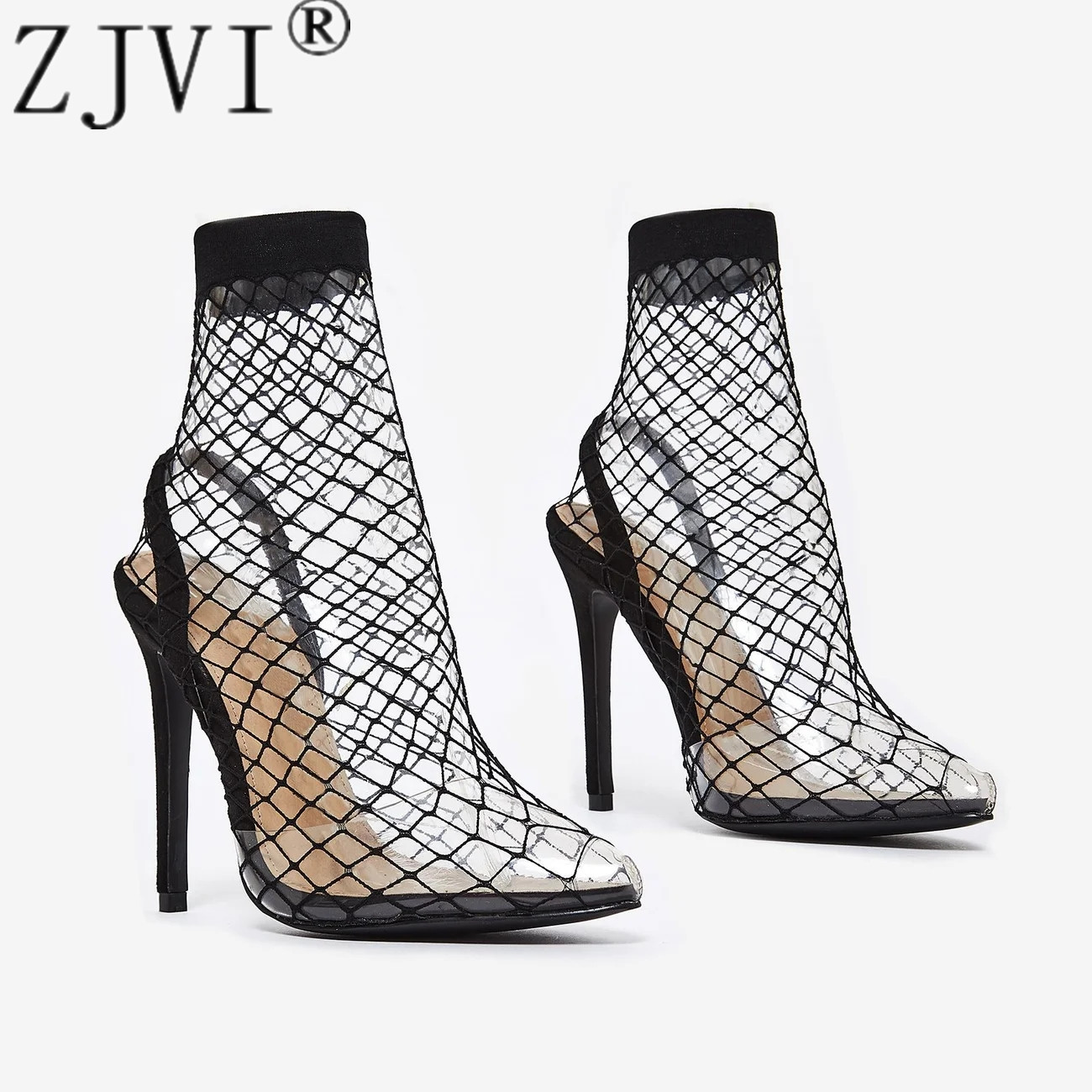 2019 new arrived woman mesh ankle boots for women summer 12 5 thin heels boots sandal