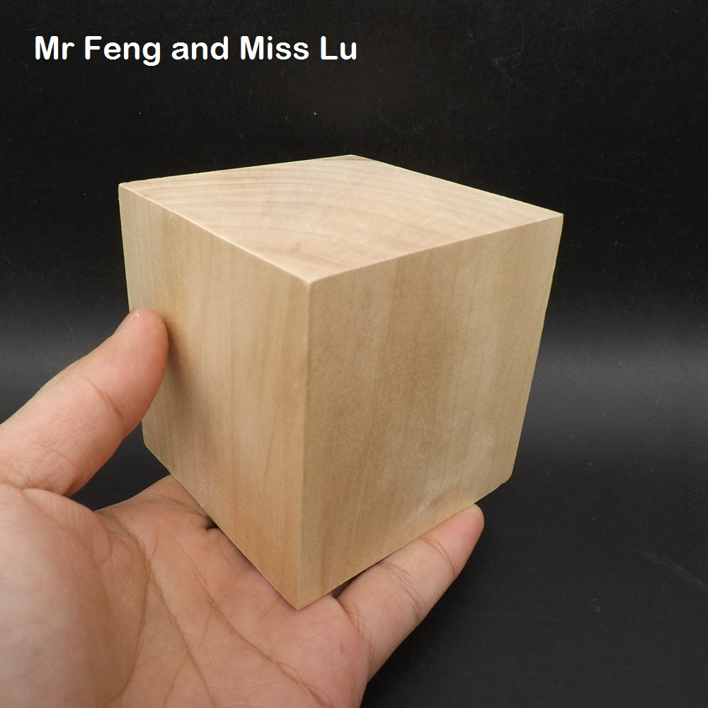 1 pcs 8 cm Natural Color Wooden Cube Fun Blocks Skill Stack Toys Tower Collapses Games Kids plywood