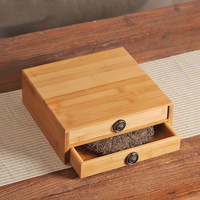 Natural Bamboo Tea Storage Box Tea Ceremony Puer Cake Tray Plate Holder Teaware Accessories Healthy Food Drawer Pu'er Separator