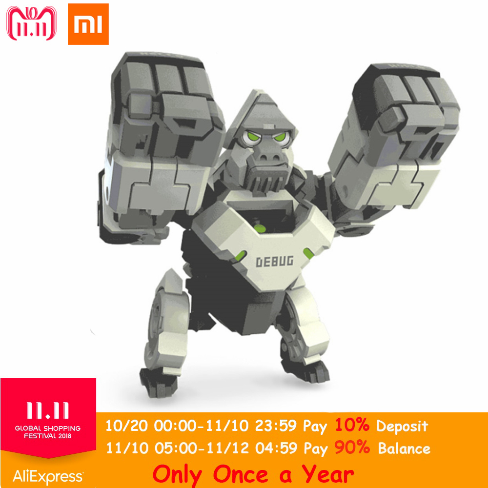 Xiaomi Youpin ABS Folding Changeable Programming Ape Toy Programmers Kids Toys Action & Toy Figures Children Birthday Xmas Gifts цена