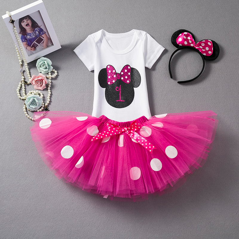Toddler Girl Baby First 1st Birthday Outfits Dress Infant Party Tutu Fluffy Kids Summer Clothes Girl 1 Year Girls Princess Dress цена 2017