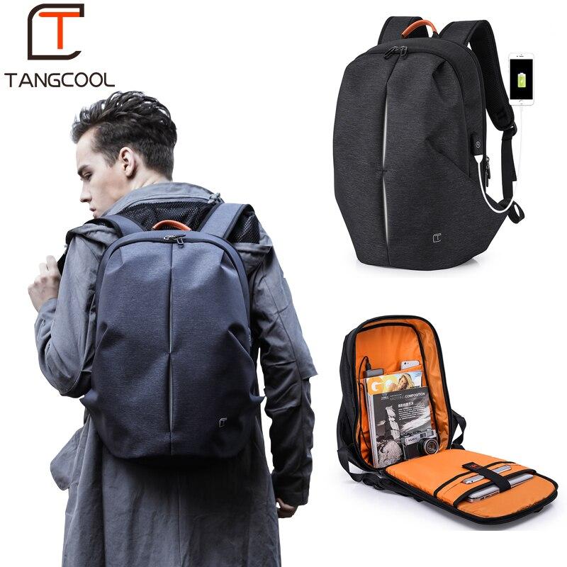 Tangcool Multifunction USB charging Men 17inch Laptop Backpacks For Teenager Mochila Leisure Travel Fashion Men backpack
