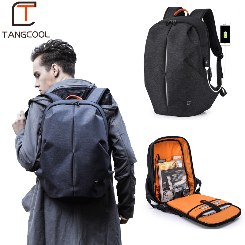 Tangcool Multifunction USB Charging Men 17inch Laptop Backpacks For Teenager Mochila Leisure Travel Fashion Men Backpack